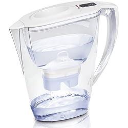Tefal Kiara - Jarra purificadora de agua, 3 filtros, tecnología Bi-Flux, 6 fases de filtrado, 1.5 l de agua filtrada, color blanco