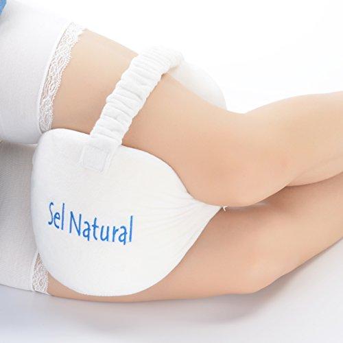 SEL Naturel genou Taie d'oreiller pour soulager sciatique, mousse à mémoire de forme Taie d'oreiller pour les jambes, mal de dos, jambes, douleurs, Grossesse, hanches et douleurs articulaires