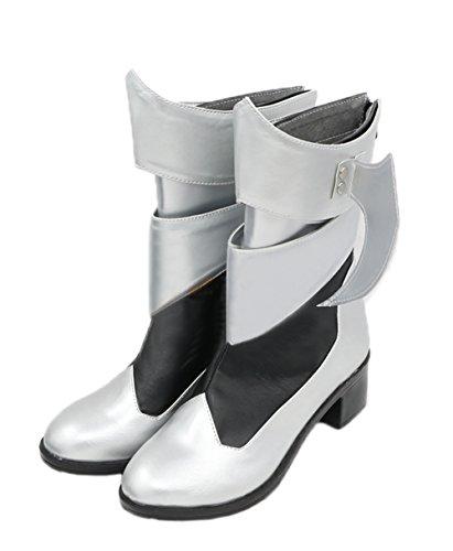 Preisvergleich Produktbild Evere Halloween Aqua Schuhe Reißverschluss Lange Silber Schuhe Stiefel Spiel Cosplay Zubehör für Kleidung Verrücktes Kleid 39
