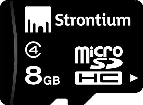Strontium 8GB MicroSDHC Memory Card (Class 4)
