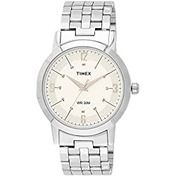 Timex Classics Analog White Dial Men's Watch - TI000T10500