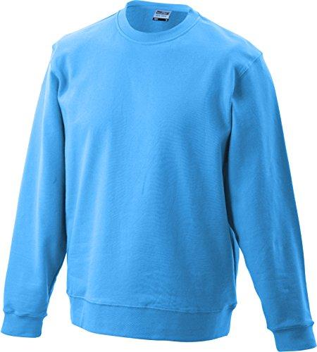 James & Nicholson Herren Basic Sweat Sweatshirt Blau (Blue)