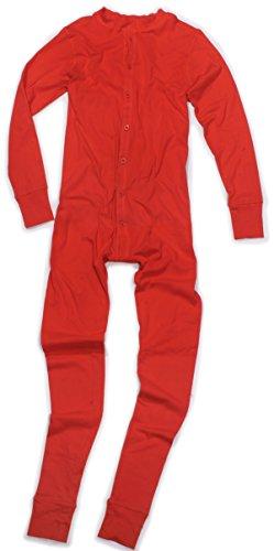 Long John Rot aus 100% Baumwolle in den Größen S - 4XL (Kostüm Bear Bear In)