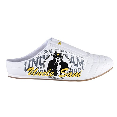 Uncle Sam Fashion Sabots für Herren in Weiß mit Druck Weiß