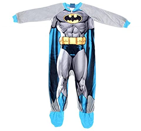 Batman One Piece Footed Blanket Sleeper with Cape (4T)