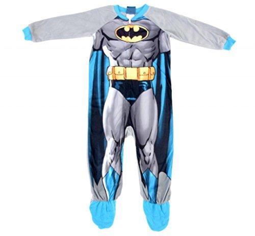 Batman One Piece Footed Blanket Sleeper with Cape (2t Kostüm Superman)