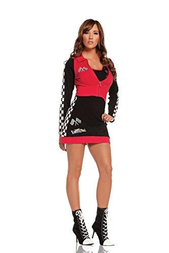 Hot Spot Damen Verführerisches Rennsport-Kostüm - - (Für Erwachsene Car Racer Kostüm)