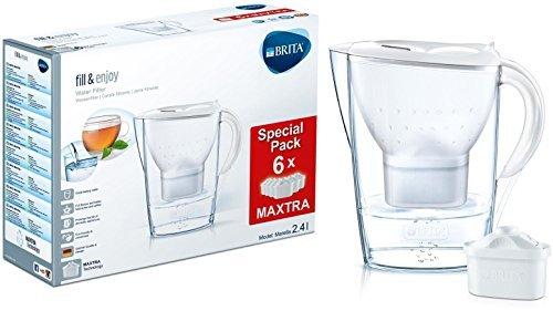 BRITA Marella - Jarra con filtro de agua 2.4 L, 6 filtros,...