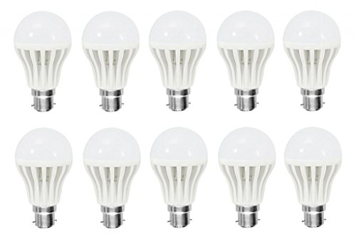 Afs 7 Watt Plastic LED Bulb(Cool Day Light,Pack Of 10)