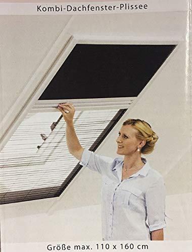 Dachfenster Fliegengitter & Sonnenschutz Kombi Plissee Insektengitter