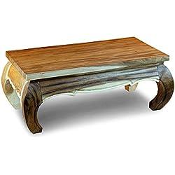 Mesa de Centro Rústica de madera de acacia estilo antiguo