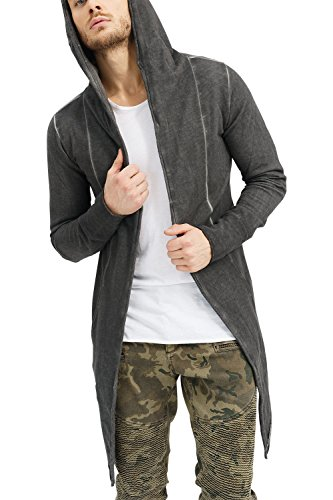 Trueprodigy Casual Homme Veste Sweat uni Basique, Vetements Swag Marque a Capuche (Manche Longue & Slim fit Classic), Cardigan Mode Fashion
