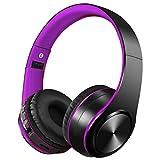 Auriculares Inalámbricos Bluetooth con Micrófono Hi-Fi Deep Bass,Headphones Plegables con Cancelación de Ruido Compatible con Smartphones,Tabletas, Computadoras,TV,PC