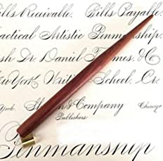 SLB Works Solid Wood Copperplate English Calligraphy Script Oblique Dip Pen Holder 5x Nib