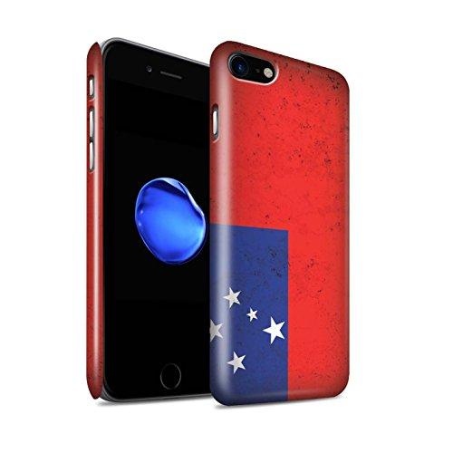 STUFF4 Glanz Snap-On Hülle / Case für Apple iPhone 8 / Samoa/Samoan Muster / Ozeanische Flagge Kollektion Samoa/Samoan