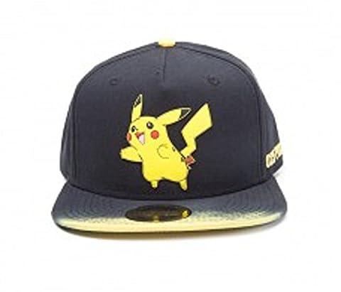 Pokemon Casquette de baseball Pikachu Patch Dip Dye Rubber Patch officiel Noir