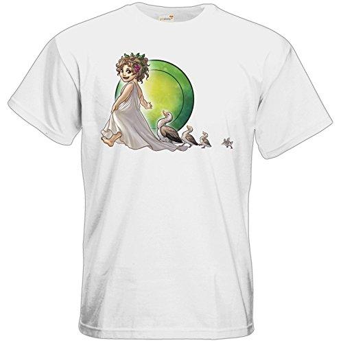 getshirts - Das Schwarze Auge - T-Shirt - Götter - Travia - Chibi White