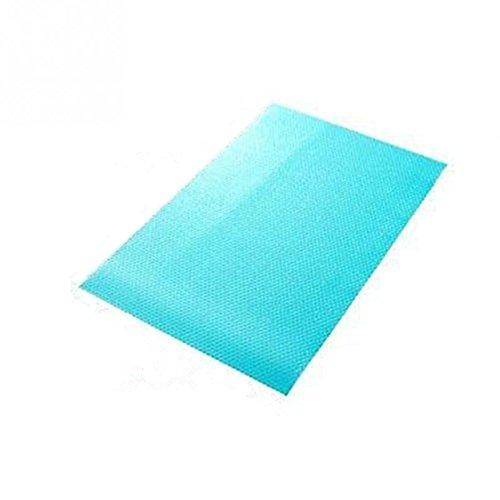 Kühlschrankmatten, Yosoo Frischhaltematte Antischimmelmatte Schmutzabweisende Antibakterielle Matte aus Kunststoff für Kühlschrank - 1 Sack ( inkl. 4 Stück) (Blau)