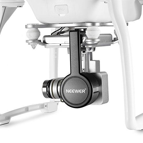 Neewer® für DJI Phantom 3Standard, Profi, und Advanced, 2er Pack Schutz Kamera Objektiv Kappen Bildschirmschutz bedeckt, aus Premium ABS-Kunststoff-Schwarz - 5