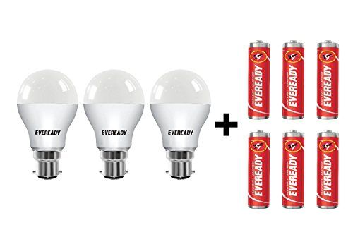 Eveready Base B22D 9-Watt LED Bulb (3 Pieces Offer Pack)  available at amazon for Rs.439