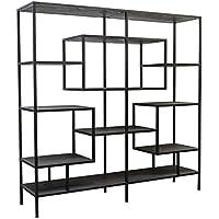 Comparador de precios Casa-Padrino diseño Armario de la estantería Negro 160 x 40 x H. 160 cm - Mueble de Sala de Estar de Lujo - precios baratos