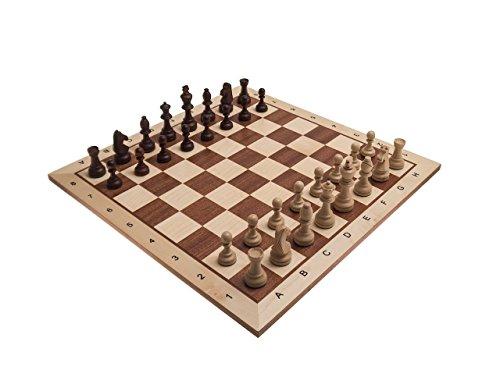 Schachset-Borislav-in-London-hell-Schachbrett-FG-58-mit-Figuren-KH-100-in-einer-Figurenbox-aus-Holz ROMBOL Schachset 'Borislav in London', hell, Schachbrett (FG 58) mit Figuren (KH 100) in Einer Figurenbox, aus Holz -