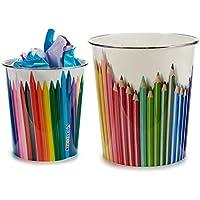 Ar Papelera plastico Colores surt 2 - Medida: 23 x 23 x 24,5 cm. Approx- 1 Unidad aleatoria