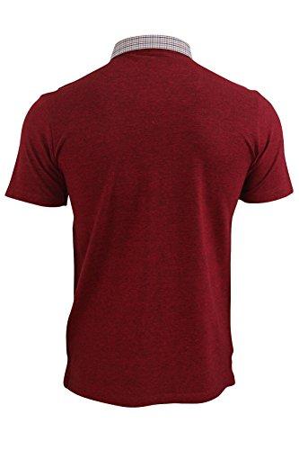 Herren Poloshirt von Kensington Eastside `Carndale`kurzärmlig Feuer Ziegel Rot