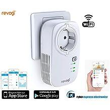 SmartPLUG Revogi–Toma WiFi inteligente inteligente interruptor inalámbrico–Contador–Programador–domótica Control remoto por Smartphone Android o iOS sh-sow512fr