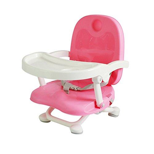 ZXYWW Portable Booster Seat Neue 2018 Sommer Sicherheit Reisen Abnehmbare Faltbare Fach Hochstuhl Fütterung Für Baby Kleinkind Kinder Mit Harness Gürtel,Pink (Hochstuhl Abdeckung Sommer)