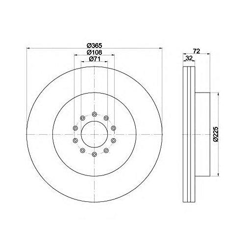 Preisvergleich Produktbild Mintex mdc2207Bremsscheibe