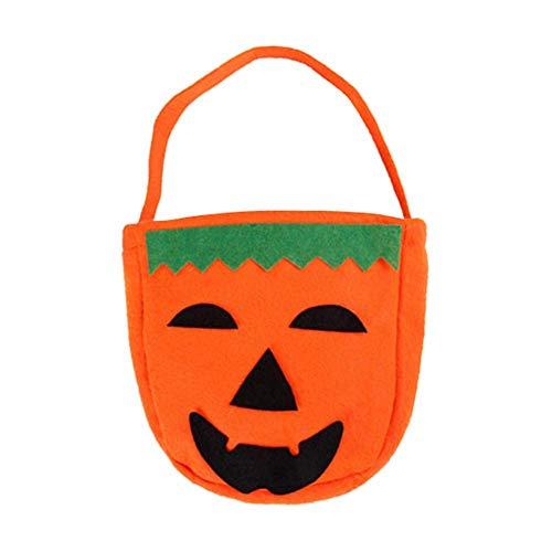 Dastrues Halloween Faltbar Kürbis Jack Laterne Tasche Süßigkeiten Geschenk Korb Treat oder Trick Tasche - 1