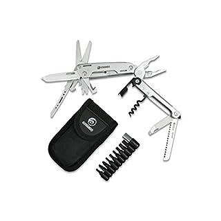GORANDO® 16-in-1 Multitool Taschen-Messer | Multifunktions-Edelstahl-Werkzeug | extrem robust & mit extra großer Schere | ideal für Outdoor & Camping