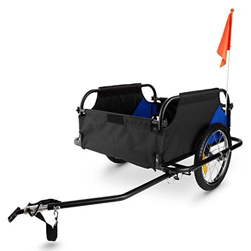 DURAMAXX Mountee • Fahrradanhänger • Lastenanhänger • Handwagen • mit Hochdeichsel • Transportbox mit 130 Liter Volumen • Tragkraft: max. 60 kg • Kugel-Kupplung für Fahrräder mit 26'' - 28'' • pulverbeschichteter Stahlrohrrahmen • blau - 6