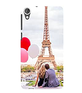 Vizagbeats Couple at Eiffel Tower Back Case Cover for HTC Desire 820
