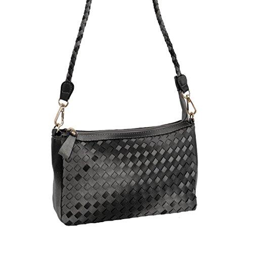 Tom & Eva, Parigi, Tom & Eva–Nuovo 2015Borsetta Borsa a tracolla borsa da donna da ZMOKA®, black (nero) - 0 black