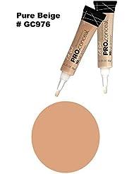 LA Girl Pro High Definition Concealer (1, GC 976 Pure Beige)