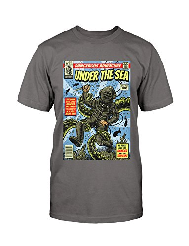 Under The Sea T-Shirt Neu Fun Funshirt Comic Vintage Used Kult Retro Blogger Grau