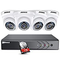 ANNKE 8CH 3MP HD TVI DVR Security System, with 4x 1080P Starlight DE-Noise Weatherproof Dome Camera System, Superior IR LED Night Vision, HD Over Analog/BNC, Smart Playback, w/1TB Hara Drive