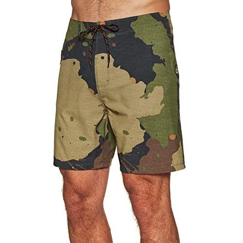 Hurley Phantom Jjf5 Recruit 18in Boardshorts 33 inch Legion Green (Inset-pocket Shorts)