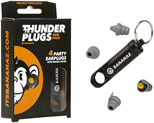 Bananaz Thunderplugs TP-DUO PACK Ear Plugs Gehörschutz Ohrstöpsel für Musiker