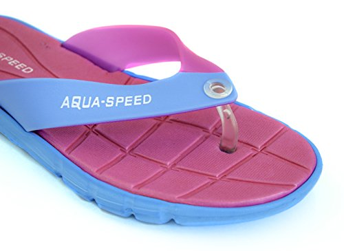 Aqua-speed - Scarpe Da Bagno Da Donna / Sandali Da Spiaggia Rosa / Blu