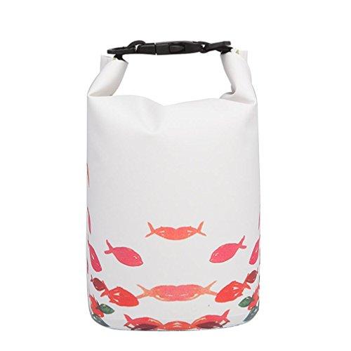 UFACE Handy wasserdichte Tasche Aufbewahrungstasche Tauchtasche Strandtasche schwimmende Tasche wasserdichte Eimer Tasche (15L, C) (Blumen-bett-tasche)