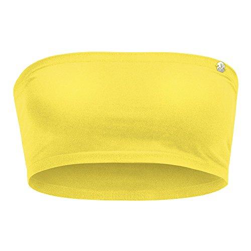 Kidneykaren Damen Bandeau- Multitube Top Mini- Tube Fitness & Freizeit Super Lemon (gelb), Größe:S Mini Tube Top
