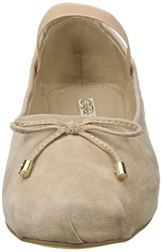 Buffalo London 216-6144 Suede, Ballerine Donna Beige (Nude 01)