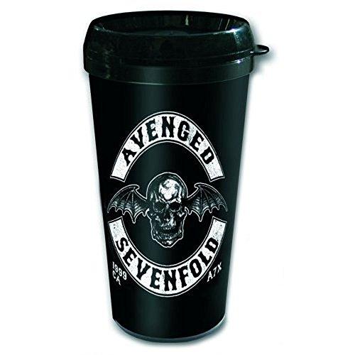 Avenged Sevenfold Death Bat Crest plastique gobelet de voyage Mug isotherme Ø9 H13,5