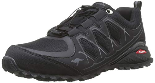 KangaROOS K-Krail, Zapatillas de Cross para Hombre, Negro Jet Black Steel Grey 5003, 41 EU