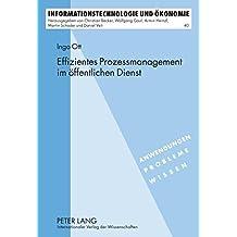 Effizientes Prozessmanagement im öffentlichen Dienst: Ein Ansatz für effizientes E-Government (Informationstechnologie und Ökonomie)