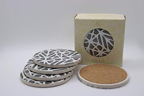 für Getränke, modern, saugfähig, Keramik-Untersetzer, Kork auf der Rückseite, um Kratzer, Wasserflecken und Schäden zu verhindern. ()