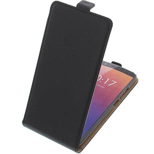 foto-kontor Tasche für Ulefone Power 3 Flipstyle Schutz Hülle Handytasche schwarz